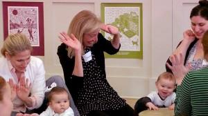 Susan teaching a Babies class
