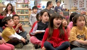 Children Singing in School