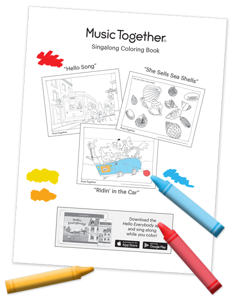 Download Our Singalong Coloring Book Its Made Up Of The Pages From Three Storybooks Which Bring Favorite Music Together Songs