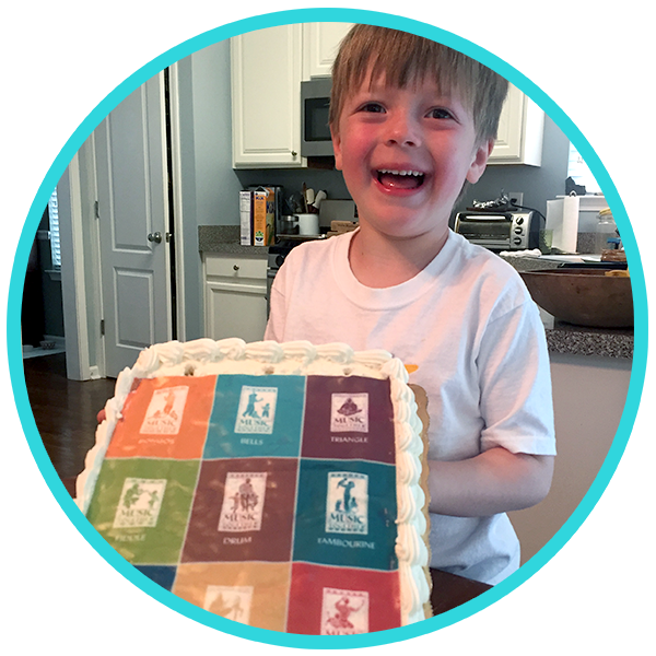 Jack with Music Together Songbook Collection Birthday Cake