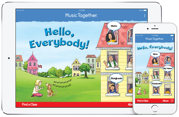 Hello Everybody app from Music Together Worldwide